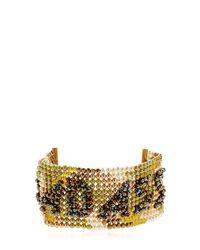 Bijoux De Famille - Metallic Badass Beaded Cuff Bracelet - Lyst