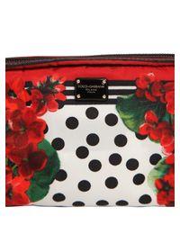 """Косметичка Из Нейлона С Принтом """"geranium"""" Dolce & Gabbana, цвет: Red"""