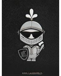 Karl Lagerfeld Karl Treasure コーティングキャンバスポーチ Black