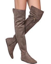 Etro Gray 10mm Suede Over The Knee Boots