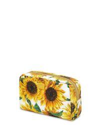 "Косметичка Из Нейлона С Принтом ""girasoli"" Dolce & Gabbana, цвет: Yellow"
