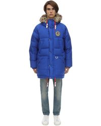 メンズ Polo Ralph Lauren リバーシブルオーバーサイズダウンジャケット Blue