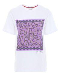 Emilio Pucci プリントコットンtシャツ White