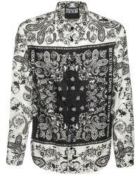 メンズ Versace Jeans Bandana コットンシャツ Black