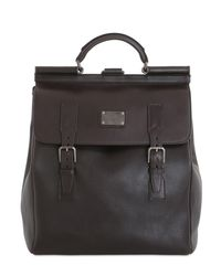 Dolce & Gabbana Brown Leather Maxi Backpack for men