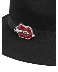 DSquared² Black Merinos Felt Hat