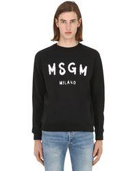 MSGM Sweatshirt mit Logo-Print in Black für Herren