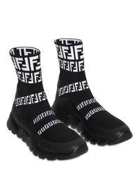 メンズ Fendi Ffシグネチャー ソックススニーカー Black