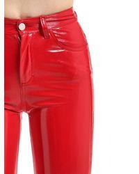 Fiorucci Red Yves Cigarette Vinyl Pants