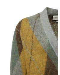 メンズ Gucci マルチカラー モヘア And ウール アーガイル カーディガン Multicolor