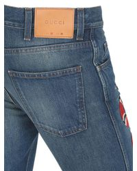 Gucci Blue Jeans In Denim Stone Washed 17.5cm
