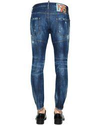 Jeans En Denim Déchiré Coupe Tidy Biker 17Cm DSquared² pour homme en coloris Blue
