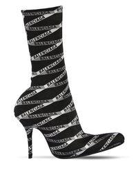 Balenciaga モノグラムロゴ スパンデックスブーツ 80mm Black
