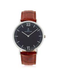 KAPTEN & SON Metallic 40mm Embossed Leather Watch for men