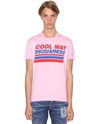 メンズ DSquared² ジャージーtシャツ Pink