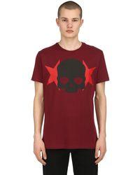 Hydrogen T-shirt Aus Baumwolljersey Mit Druck in Red für Herren