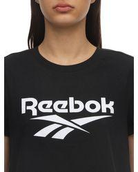 Reebok コットンジャージーtシャツ Black