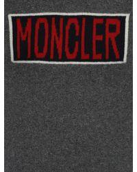 Maglia In Lana Con Logo di Moncler in Gray da Uomo