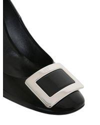 Roger Vivier Black 85mm Belle De Nuit Patent Leather Pumps