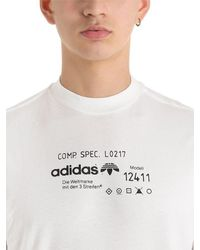 Alexander Wang White Printed Cotton Jersey T-shirt for men