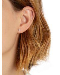 Jezebel London - Metallic Duke Gold & Diamond Stud Mono Earring - Lyst
