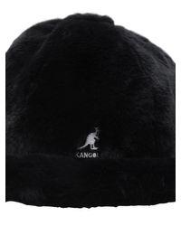 Gorro De Piel Sintética Con Estampado Animal Kangol de color Black
