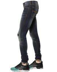 Nudie Jeans Blue 15cm Skinny Lin Cotton Denim Jeans for men