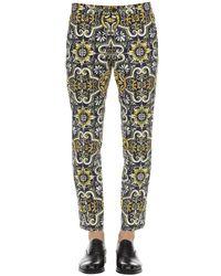 メンズ Dolce & Gabbana ストレッチコットンパンツ 17cm Multicolor