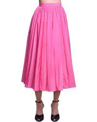 Delpozo タフタスカート Pink