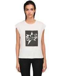 Saint Laurent コットンジャージーtシャツ White