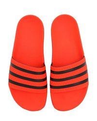 メンズ Adidas Originals Adilette ラバー スライドサンダル Red