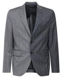 メンズ LC23 バイカラーウールジャケット Gray
