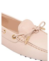Tod's Pink Heaven Laccetto Leather Driving Shoes