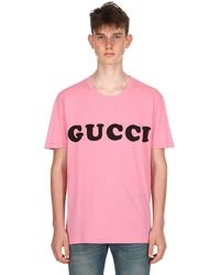 Gucci Pink Baby Printed Cotton Jersey T-shirt for men