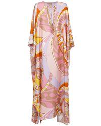 Emilio Pucci ジョーゼットシルクカフタンドレス Pink