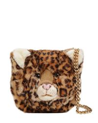 Dolce & Gabbana - Brown Leopard Plush & Embossed Leather Bag - Lyst