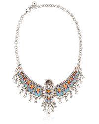 Shourouk - Blue Phenix Necklace - Lyst