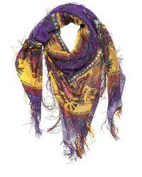 Sciarpa In Seta Con Frange di Etro in Purple