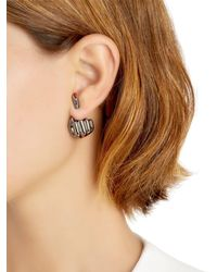 Anissa Kermiche - Black French For Goodnight Mono Earring - Lyst