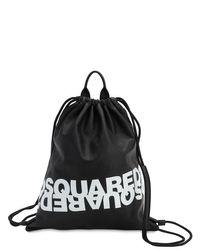 DSquared² レザーバックパック Black