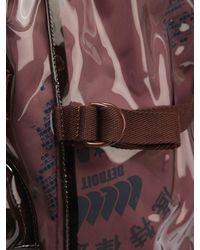 Raf Simons Brown Eastpak Transparent Pvc Backpack for men