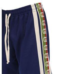 メンズ Gucci コットンブレンドジャージー ショートパンツ Blue