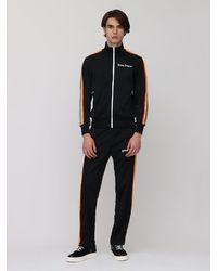 メンズ Palm Angels Rainbow テックジップスウェットシャツ Black