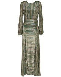 Платье Миди Из Люрекса ROTATE BIRGER CHRISTENSEN, цвет: Green
