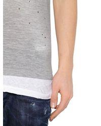 メンズ DSquared² ロゴプリント ジャージーtシャツ Gray