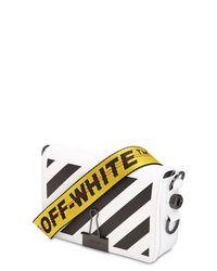Off-White c/o Virgil Abloh Black Mini Diagonal Striped Leather Bag