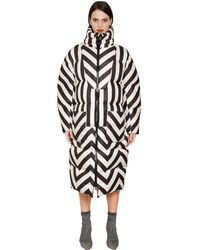 Daniele Carlotta | Black Oversized Stripes Printed Down Jacket | Lyst