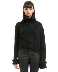 Ann Demeulemeester Black Trapper Mohair Blend Knit Sweater