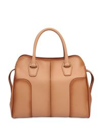 Tod's Natural Small Sella Antiqued Soft Leather Bag