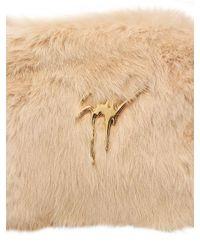 Giuseppe Zanotti Pink Faux Fur Clutch